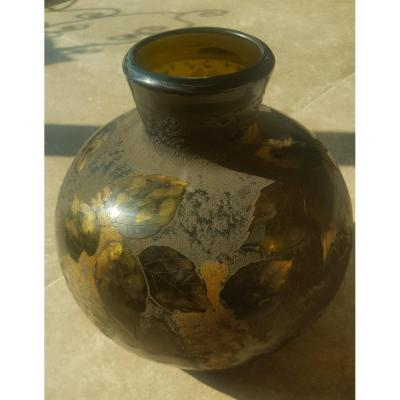 Ball Vase Signed Legras