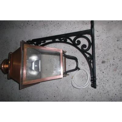Lampe Cuivre Support Fonte
