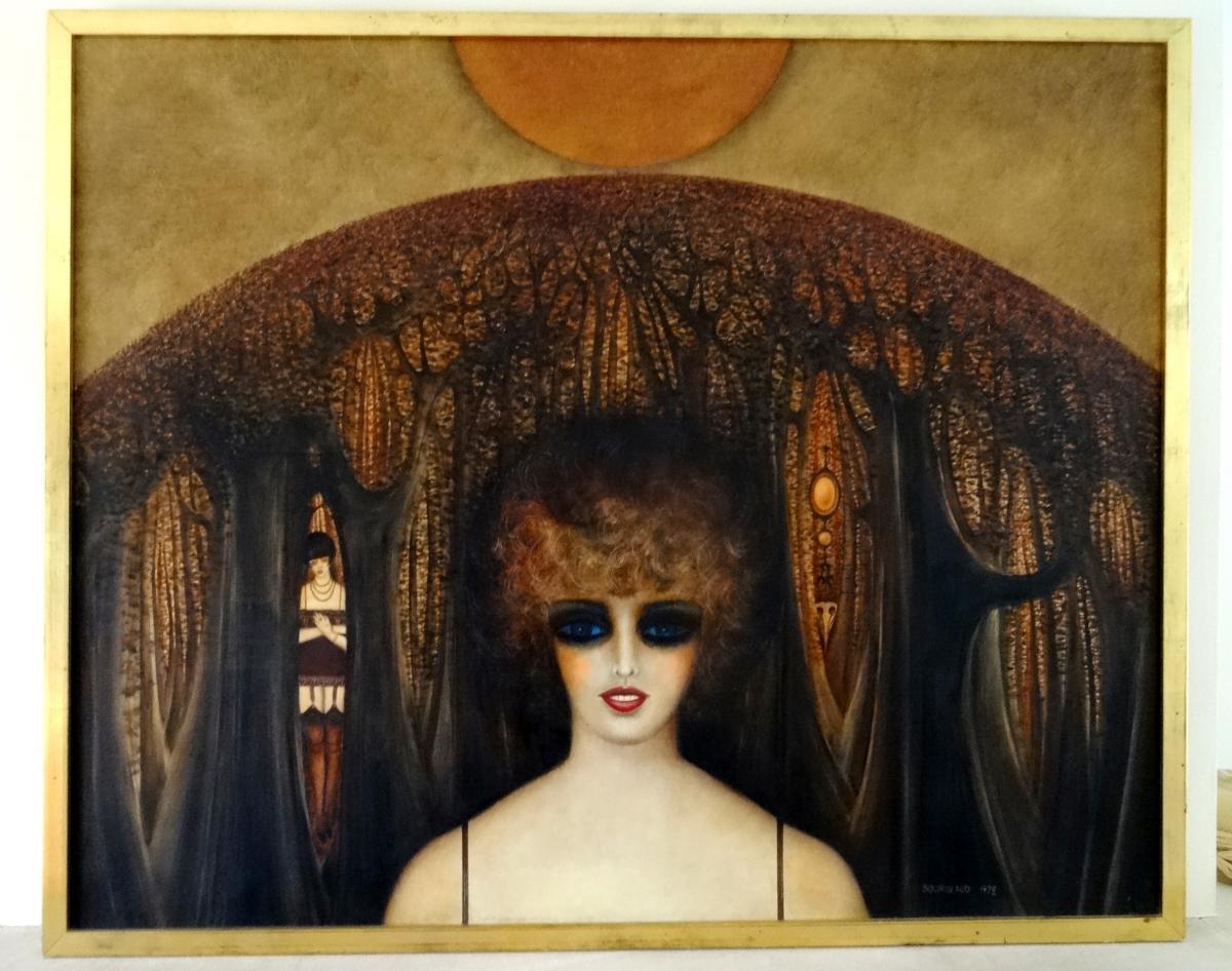 Peinture Erotique . Roland Bourigeaud . 1972.