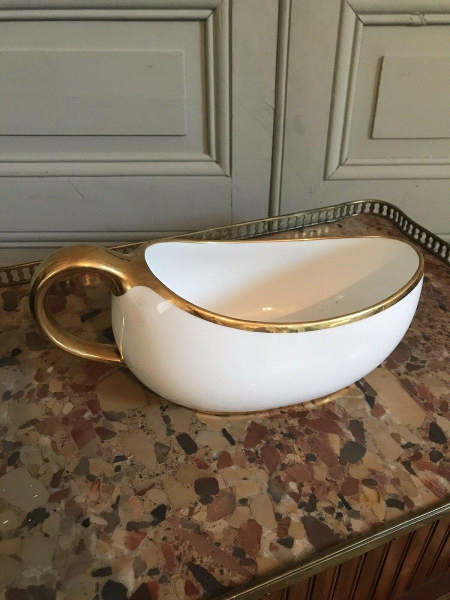Bourdaloue En Porcelaine De Paris - Fin XVIIIe Début XIXe Siècle