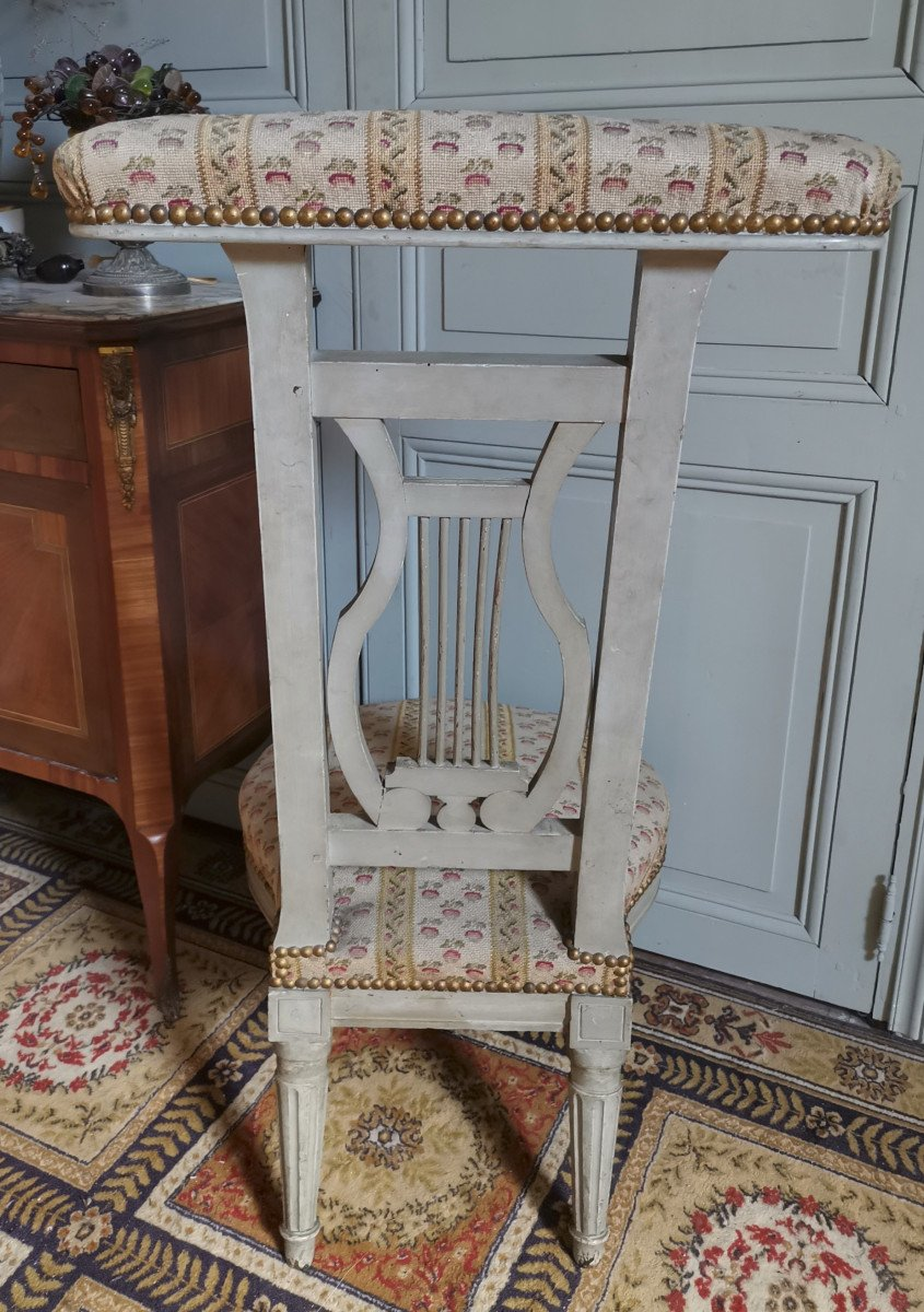 Chaise Ponteuse Ou Voyeuse  de femme d'époque Louis XVI-photo-4