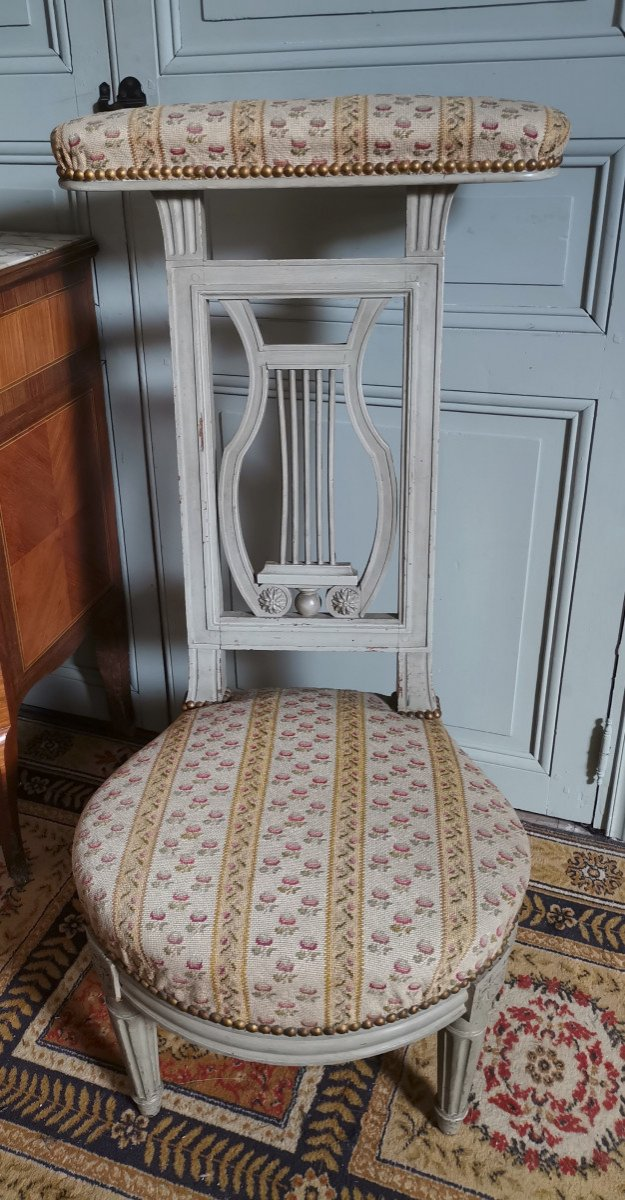 Chaise Ponteuse Ou Voyeuse  de femme d'époque Louis XVI