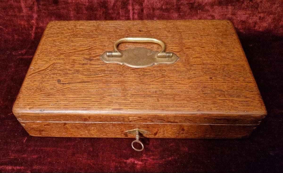 Révolver 9 Mm à Broche En Coffret Nécessaire C. 1870-photo-2