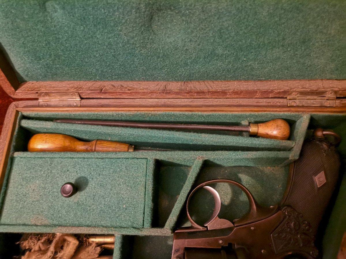 Révolver 9 Mm à Broche En Coffret Nécessaire C. 1870-photo-3