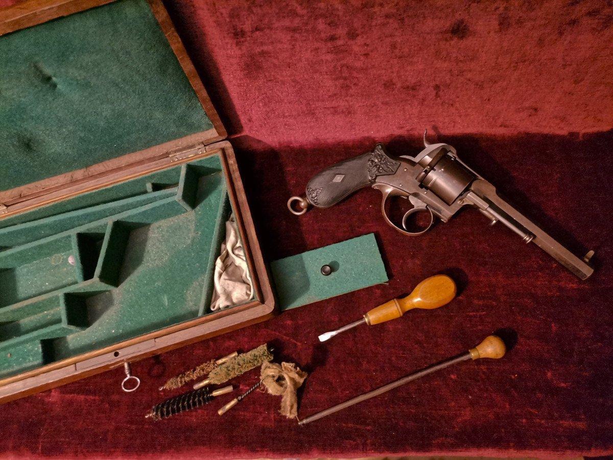 Révolver 9 Mm à Broche En Coffret Nécessaire C. 1870-photo-4