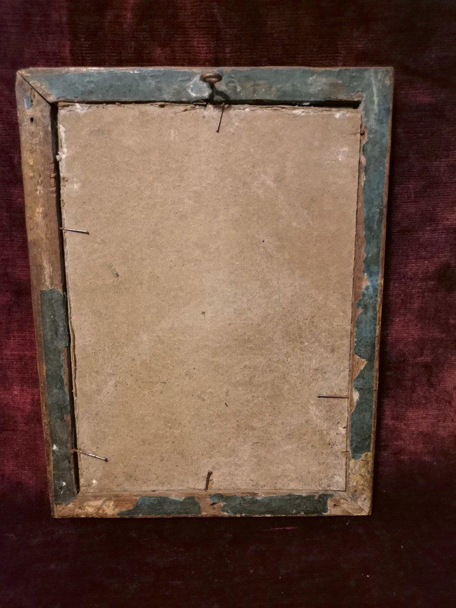 Peinture Religieuse Fixé-sous Verre Fin XVIIème Ou Début XVIIIème-photo-1