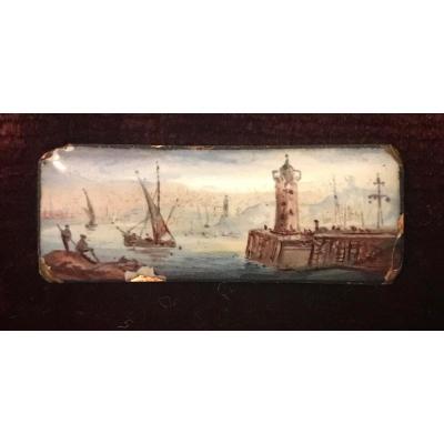 Petit émail Sur Cuivre d'époque Louis XVI - XVIIIe Siècle