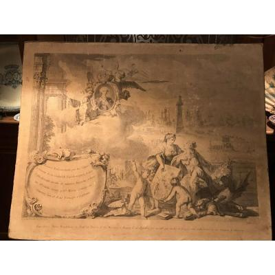Rare 18th Century Engraving Francesc Tramulles I Roig 1717 To 1773 - C.1764