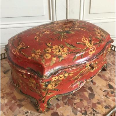 Coffret En Vernis Vénitien - 1ère Moitié Du XVIIIème siècle - époque Louis XV