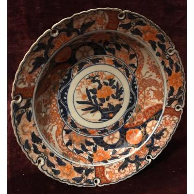 Large Hollow Plate Of Imari Japan Nineteenth