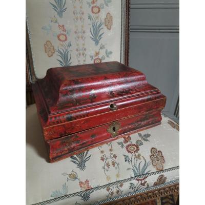 Boîte à Perruque En Vernis Martin Début XVIIIème