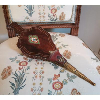 Embers Bellows In Marquetry From Napoleon III Period