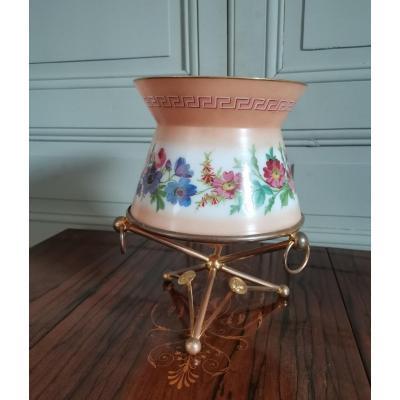 Vase En Opaline Décor à La Grecque  d'époque Napoléon III