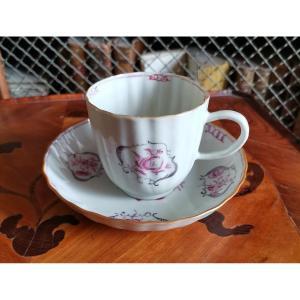 Tasse Et Soucoupe En Porcelaine De Chine De La Cie Des Indes d'époque Louis XV