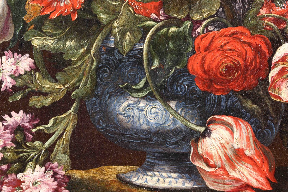 Pair Of Still Lifes Of Flowers-photo-1