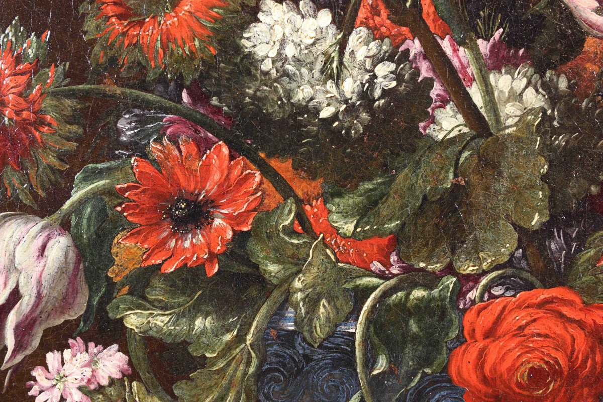 Pair Of Still Lifes Of Flowers-photo-2