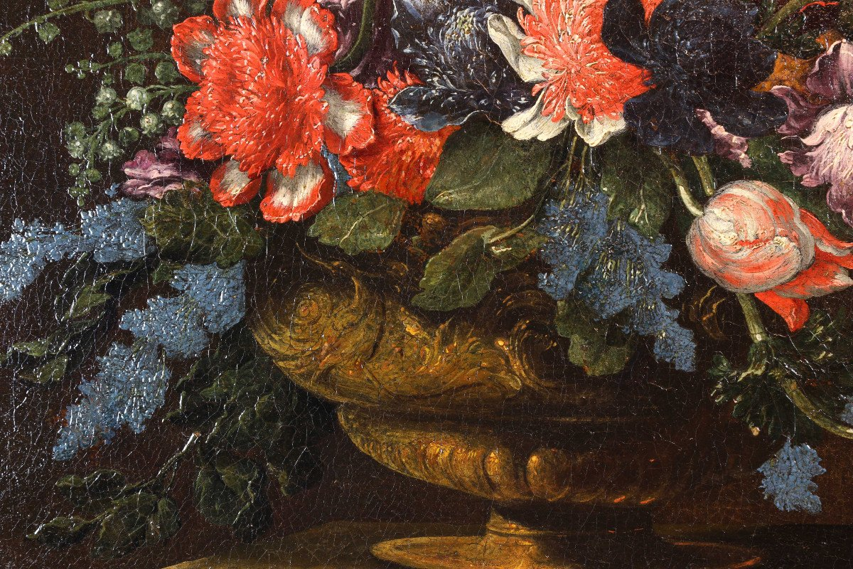 Pair Of Still Lifes Of Flowers-photo-3