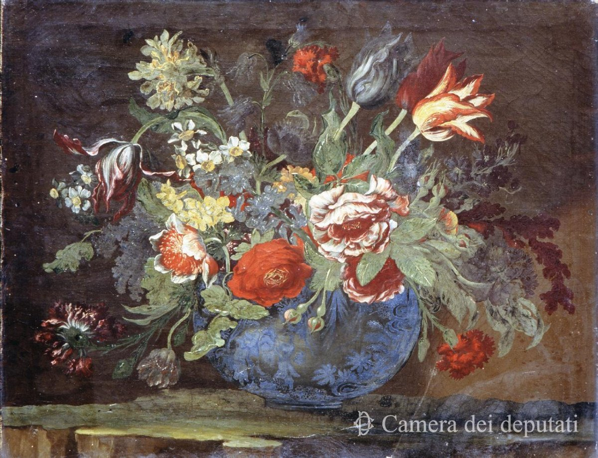 Pair Of Still Lifes Of Flowers-photo-5