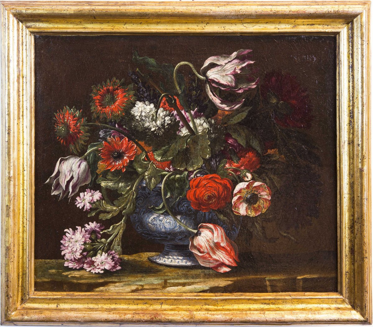 Pair Of Still Lifes Of Flowers