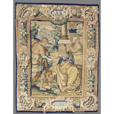 Tapisserie Flamande Représentant: Aminta Et Silvia. Bruxelles, Premier Semestre 1600