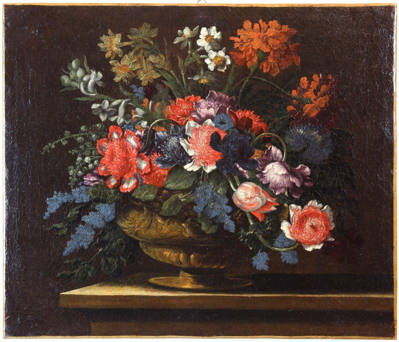 Pair Of Still Lifes Of Flowers-photo-4