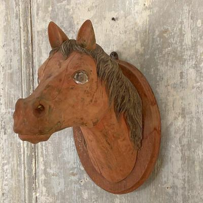 Carved Wooden Horse Head