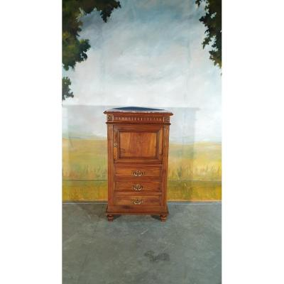 High Chest Of Drawers In Solid Walnut