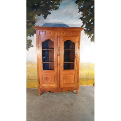 Small Library In Solid Walnut Late Eighteenth Time