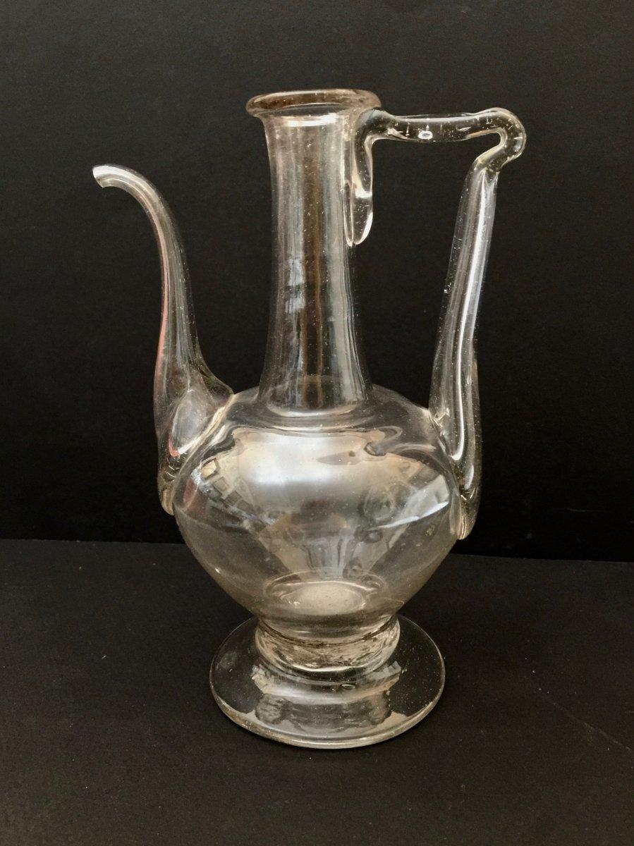 18th Century Oil Blown Glass Burette