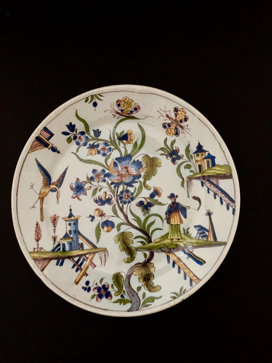 Plate In Earthenware Mills XVIII Century