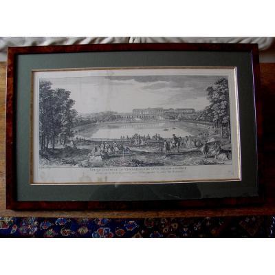 """Gravure 18 ème """"château De Versailles"""""""