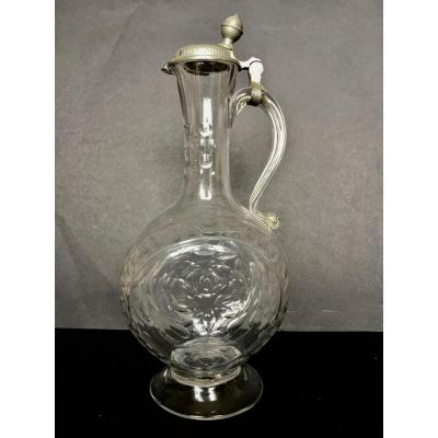 Ewer In Blown Glass XVIII Century