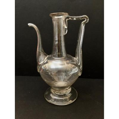 18th Century Oil Blown Glass Burette