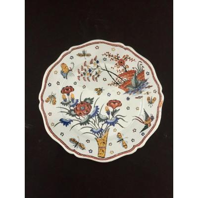 Earthenware Plate From Rouen XVIIIth Century