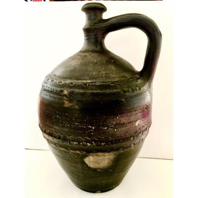 Large Ottoman Jug In Glazed Earth End 19th