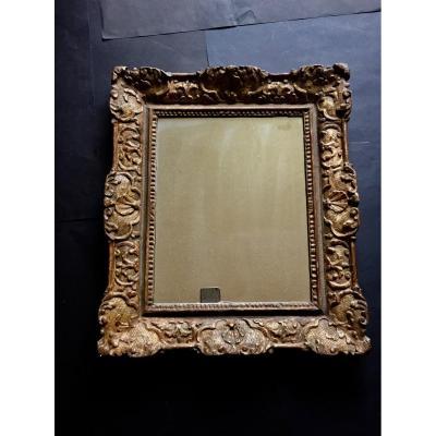 Mirror In Golden Wood Early Eighteenth Century