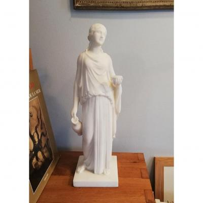 Paul-gabriel Capellaro (1862-1956) The Goddess Hebe Marble