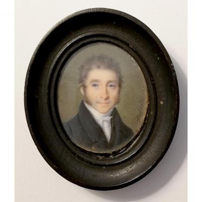 Miniature De Joseph DUBASTY (actif Entre 1808-1842)  Portrait Présumé Du Baron Otard
