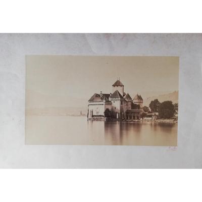 Photo Bisson Frères Chateau Chillon Sur Le Lac Leman Suisse XIX