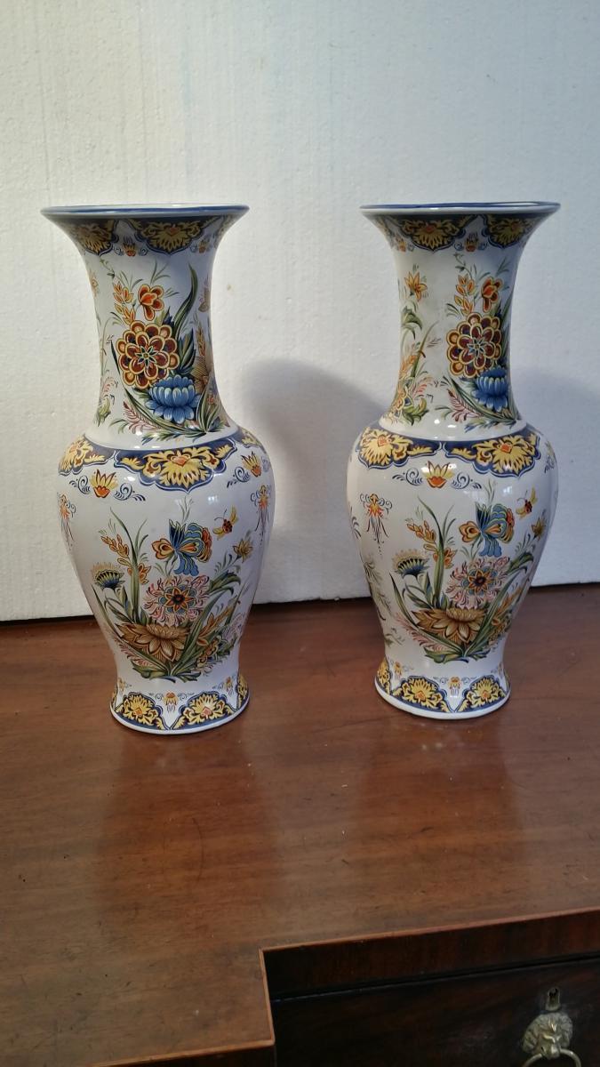 Paire De Vase , Compagnie Des Indes , Porcelaine