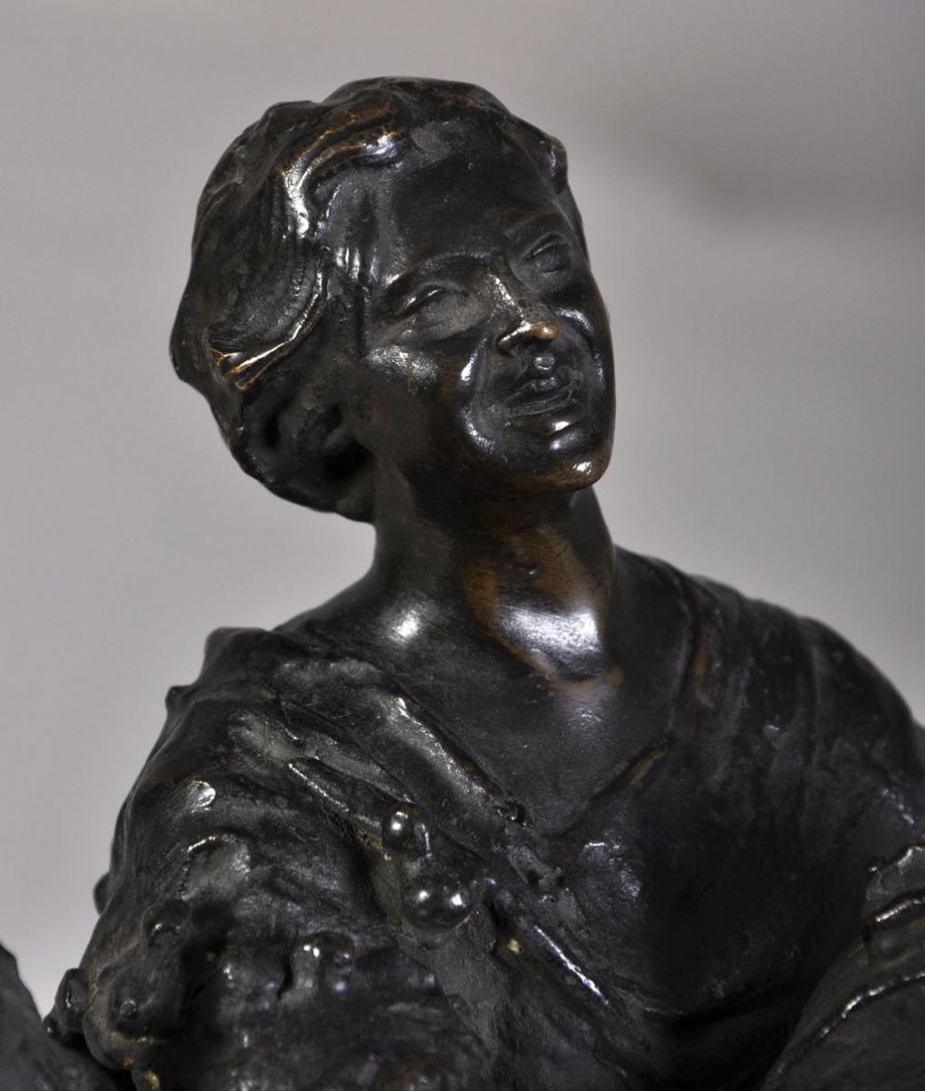 """street Musicians"" Bronze Sculpture With Brown Patina-photo-1"