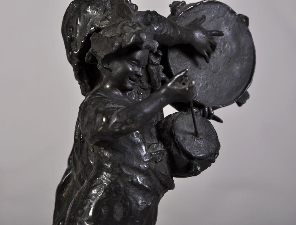"""street Musicians"" Bronze Sculpture With Brown Patina-photo-3"