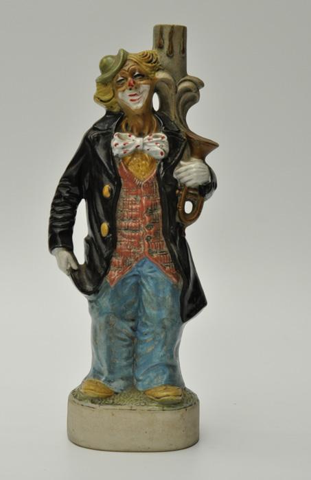Clown En céramique Formant bouteille à liqueur KLEM, FRANCE