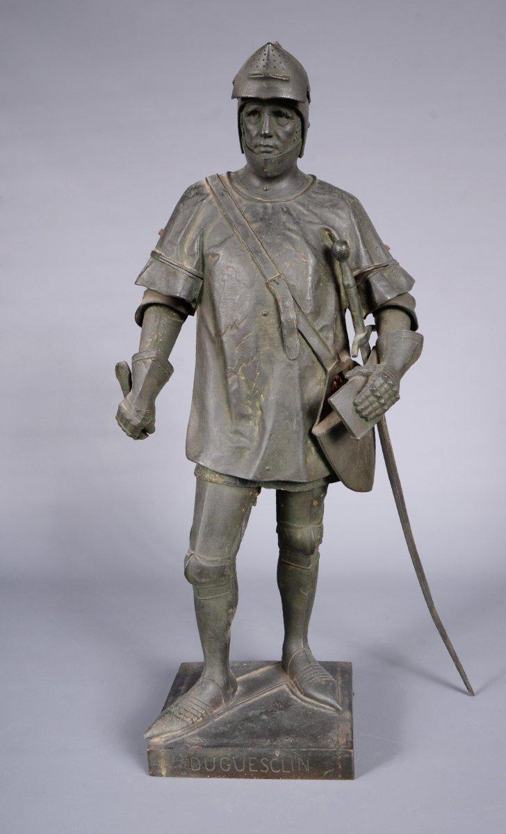 Bronze Sculpture Depicting Du Guesclin