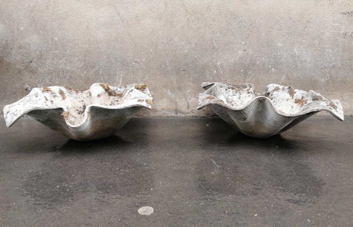 Willy Guhl, Pairs Of Fibro Cement Planters