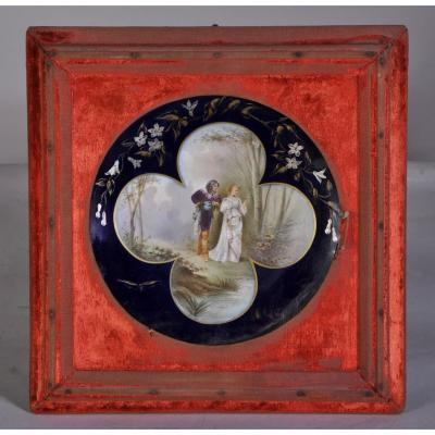 Decorative Plate With Galant Scene In The Taste Of Sevres