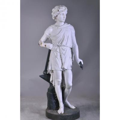Le Forgeron, Statue En Fonte d'Après Mathurin Moreau, XIXè Siècle