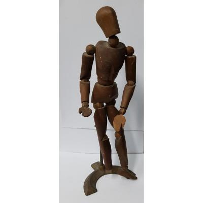 Articulated Artist Mannequin In Wood