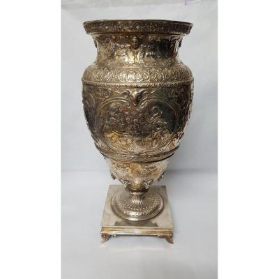 Vase En Métal Argenté Christofle