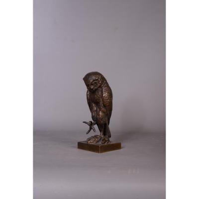 Bronze Honed Chiseled Owl